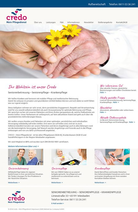 Credo-Webseite